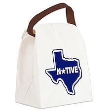 Texas Native White Canvas Lunch Bag