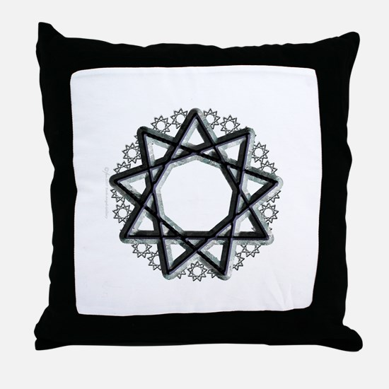 Nonagram or 9 Pointed Star  Throw Pillow