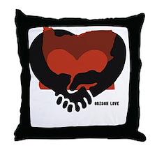 Oregon-love-B Throw Pillow