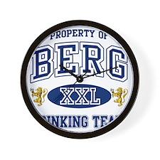 Berg Norwegian Drinking Team Wall Clock