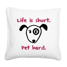 blackshortdog Square Canvas Pillow