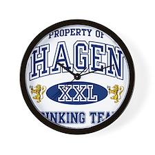Hagen Norwegian Drinking Team Wall Clock