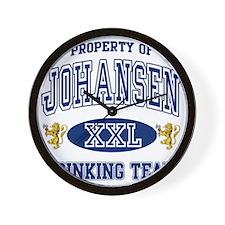 Johansen Norwegian Drinking Team Wall Clock