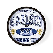 Karlsen Norwegian Drinking Team Wall Clock