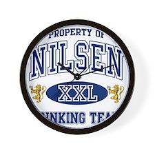 Nilsen Norwegian Drinking Team Wall Clock