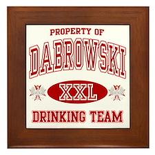 Dabrowski Polish Drinking Team Framed Tile