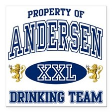 "Andersen Norwegian Drink Square Car Magnet 3"" x 3"""