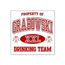 "Grabowski Polish Drinking T Square Sticker 3"" x 3"""