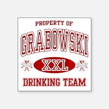 "Grabowski Polish Drinking T Square Sticker 3"" x 3"""
