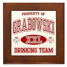 Grabowski Polish Drinking Team Framed Tile