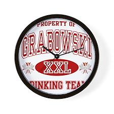 Grabowski Polish Drinking Team Wall Clock