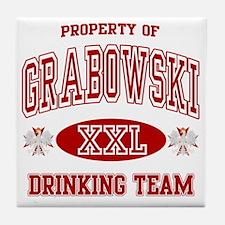 Grabowski Polish Drinking Team Tile Coaster