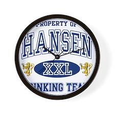 Hansen Norwegian Drinking Team Wall Clock