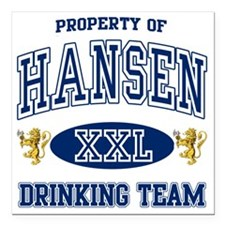 "Hansen Norwegian Drinkin Square Car Magnet 3"" x 3"""