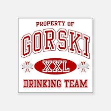 "Gorski Polish Drinking Team Square Sticker 3"" x 3"""