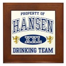 Hansen Norwegian Drinking Team Framed Tile
