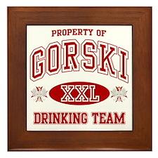 Gorski Polish Drinking Team Framed Tile