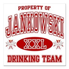 "Jankowski Polish Drinkin Square Car Magnet 3"" x 3"""