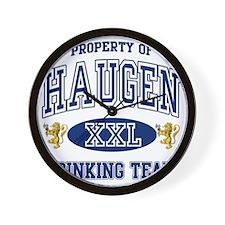 Haugen Norwegian Drinking Team Wall Clock