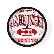 Jankowski Polish Drinking Team Wall Clock