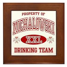 Michalowski Polish Drinking Team Framed Tile
