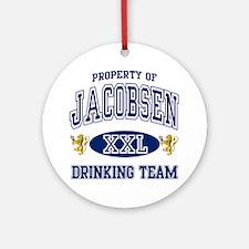 Jacobsen Norwegian Drinking Team Round Ornament
