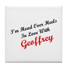 In Love with Geoffrey Tile Coaster