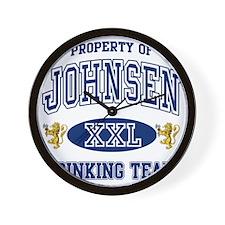 Johnsen Norwegian Drinking Team Wall Clock