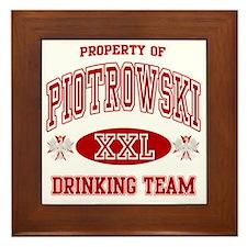 Piotrowski Polish Drinking Team Framed Tile