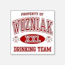 "Wozniak Polish Drinking Tea Square Sticker 3"" x 3"""