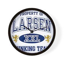 Larsen Norwegian Drinking Team Wall Clock