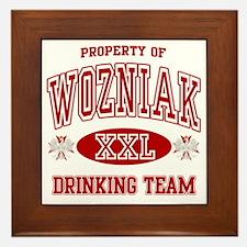 Wozniak Polish Drinking Team Framed Tile