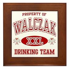 Walczak Polish Drinking Team Framed Tile