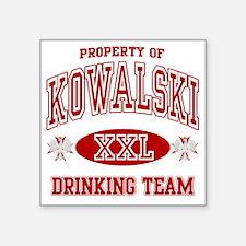 "Kowalski Polish Drinking Te Square Sticker 3"" x 3"""
