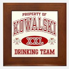 Kowalski Polish Drinking Team Framed Tile
