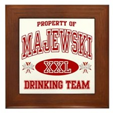 MajewskiDrinking Team copy Framed Tile