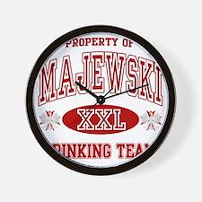 MajewskiDrinking Team copy Wall Clock
