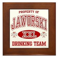Jaworski Polish Drinking Team Framed Tile