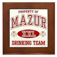 Mazur Polish Drinking Team Framed Tile