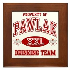 Pawlak Polish Drinking Team Framed Tile