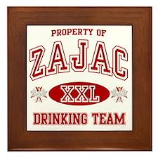 Zajac Polish Drinking Team Framed Tile
