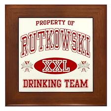 Rutkowskii Polish Drinking Team Framed Tile