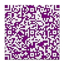 shop large QR-Code Tile Coaster