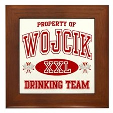 Wojcik Polish Drinking Team Framed Tile