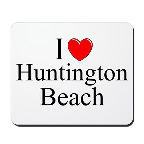 I love huntington beach mousepad by ilovegiftshop for Huntington card designs