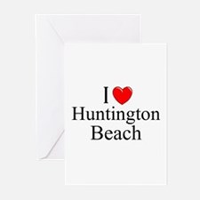 """I Love Huntington Beach"" Greeting Cards (Package"
