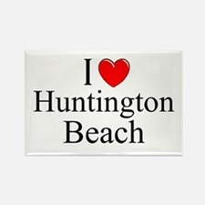 """I Love Huntington Beach"" Rectangle Magnet"