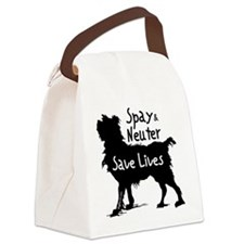 blacksavelivesdog-onlight Canvas Lunch Bag