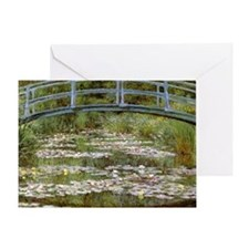 monet bridges 2 Greeting Card