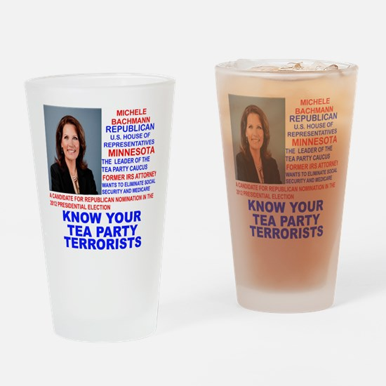 Michele-Bachmann-Tea-Party-small Drinking Glass
